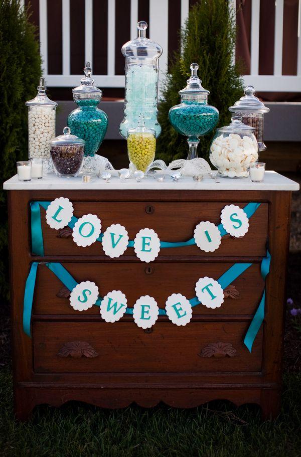 Sweet Wedding Candy Buffet