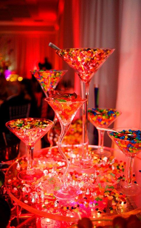 Wedding Candy Buffet Dramatic Presentation