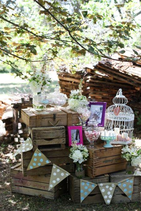 Vintage Wedding Candy Buffet