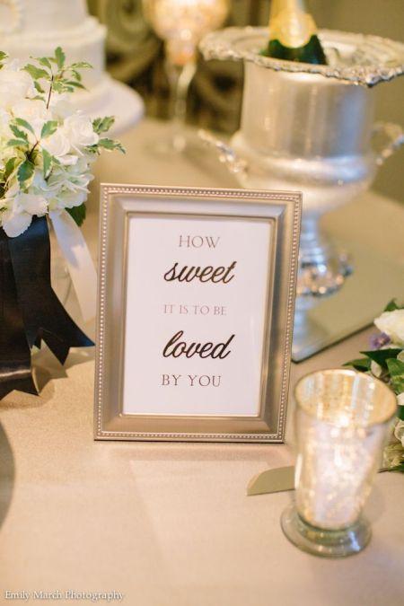 Wedding Candy Buffet Sweet Sign