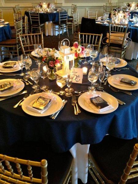 Wedding Favor Koozies Table Setting