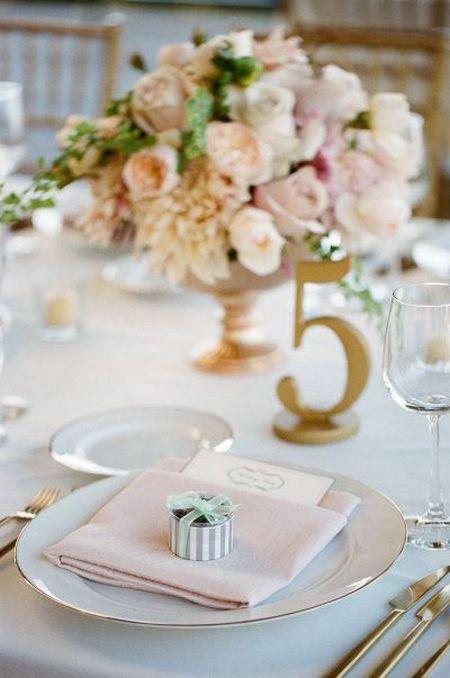 Wedding Favor Mints Tablescape