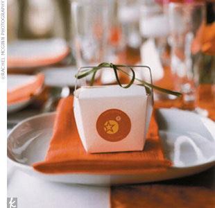 Color Coordinated Wedding Fortune Cookies