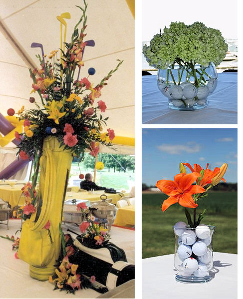 Golf Themed Wedding Favor Centerpieces